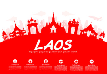 laos Travel Landmarks.