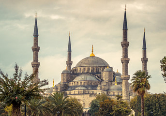 Blue Mosque in Istanbul - islamic architecture in Turkey.