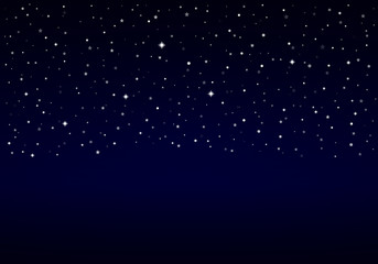Night Sky, Snow, Stars | Christmas Background with Space for Text