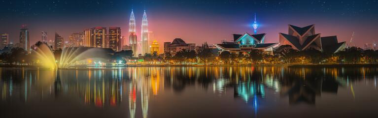 Photo sur Aluminium Kuala Lumpur Kuala Lumpur night Scenery, The Palace of Culture
