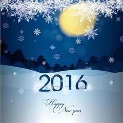 greeting card with 2016 and christmas print