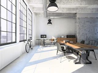 Interior design of  modern Living room. 3d rendering