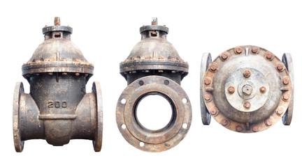 old underground gate valve, 200 mm diameter,1977, anti  screws