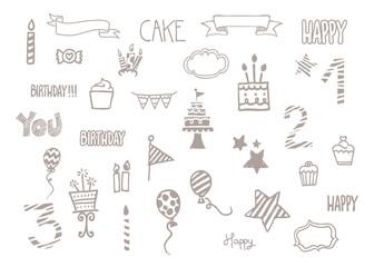Birthday doodle clip art