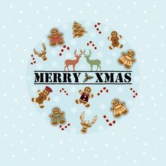 Merry Xmas Circle Cookies