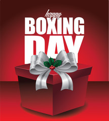 Happy Boxing Day design. royalty free stock illustration for greeting card, ad, promotion, poster, flier, blog, article, social media, marketing