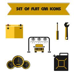 Set car color vector flat icon