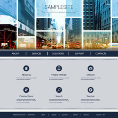 Website Design for Your Business - One Street of New York City Image in Header Design