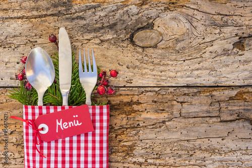 weihnachten men karte speisekarte rustikal photo libre. Black Bedroom Furniture Sets. Home Design Ideas