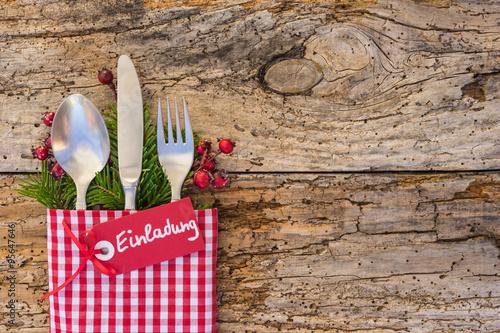 Weihnachten Einladung Essen Fest Feier