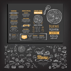 Restaurant cafe menu, template design.
