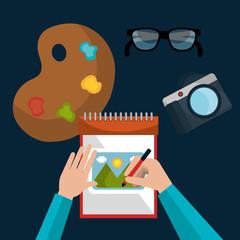Graphic design art and profession theme