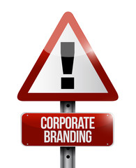 Corporate Branding warning sign concept