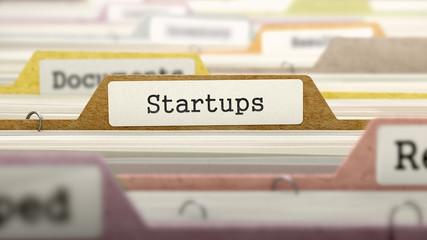 Startups Concept on Folder Register.