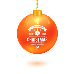 Christmas ball with logo