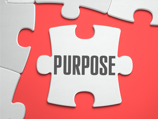 Purpose - Puzzle on the Place of Missing Pieces. Wall mural