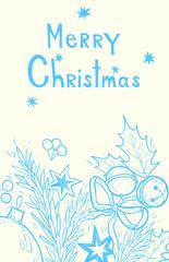 Merry Christmas. hand drawn illustration