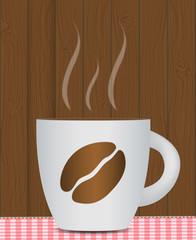 Black Coffee Background. Photo-Realistic Vector