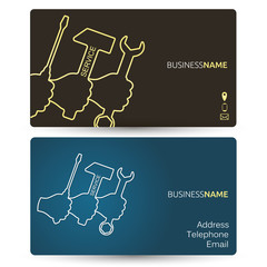 Repair business card