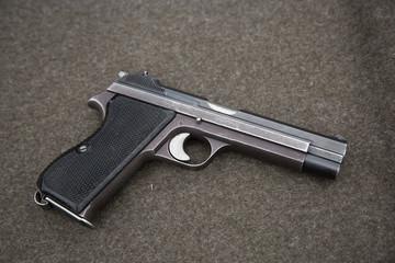 Black metal pistol