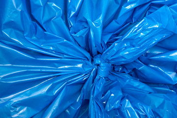 A blue plastic bag texture, macro, background