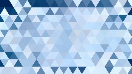 Abstract triangle geometric blue background vector