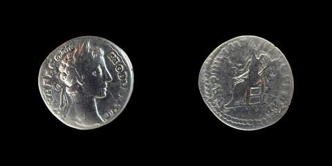 Silver Roman denarius