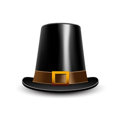 Pilgrim hat. Thanksgiving symbol.