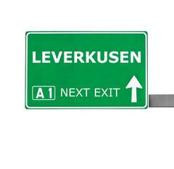 LEVERKUSEN road sign isolated on white