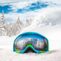 Colorful ski glasses.