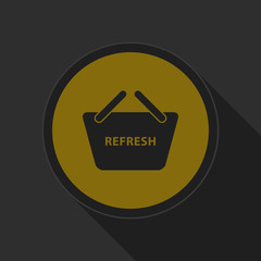 dark gray and yellow icon - shopping basket refresh