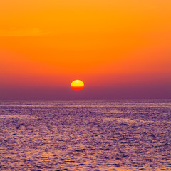 Papiers peints Grenat Beautiful sunset over the sea. beauty landscape. Wonderful sunri
