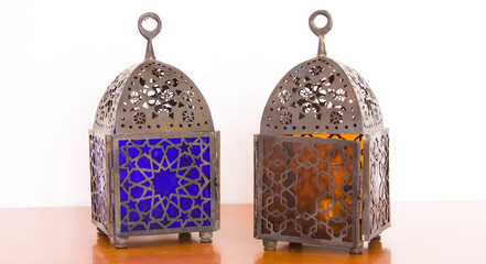 Egyptian lamps - two pieces