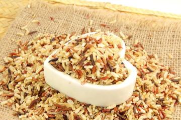 mixed wild organic brown rice