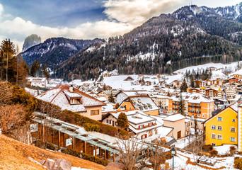 Snowy alpine village