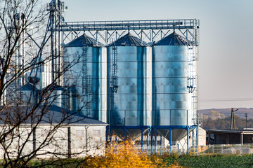 Large view on the silos