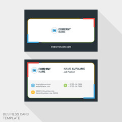 Modern Creative and Clean Business Card Template. Vector Illustration