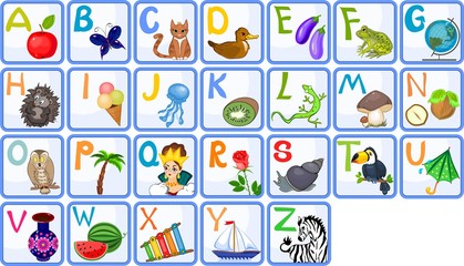 English alphabet with pictures