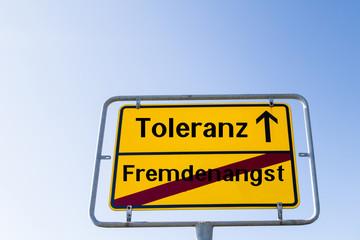 Toleranz und Fremdenangst