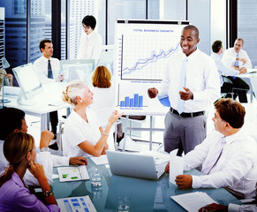 Business Presentation Collaboration Colleagues Concept
