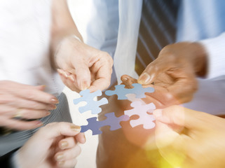 Business Connection Corporate Team Jigsaw Puzzle Concept