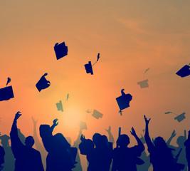 Group Of Diverse Students Celebrating Graduation