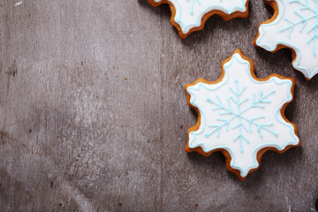 Stores à enrouleur Biscuit christmas background with cookies