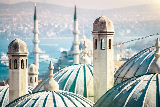 The beautiful Süleymaniye mosque in Istanbul, Turkey