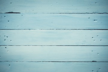 Painted blue wooden planks