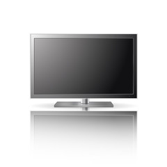 LCD TV set with reflection