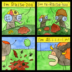 Comic Strip Black Humor
