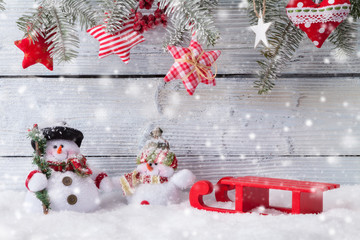 Christmas snowmen decoration