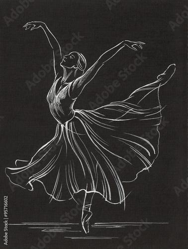 На черной бумаге рисунок