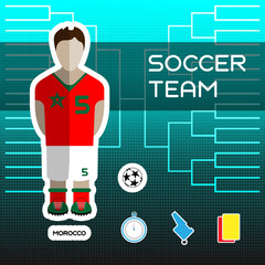 Morocco Soccer Team Player